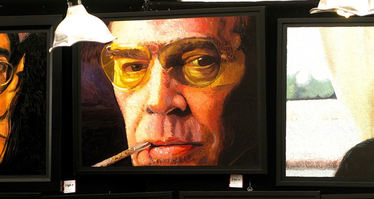 Portrait of Hunter S. Thompson for Sale at Bonnaroo, 2010