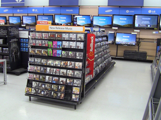 walmart is about to cut its cd section in half digital music newsdigital music news. Black Bedroom Furniture Sets. Home Design Ideas