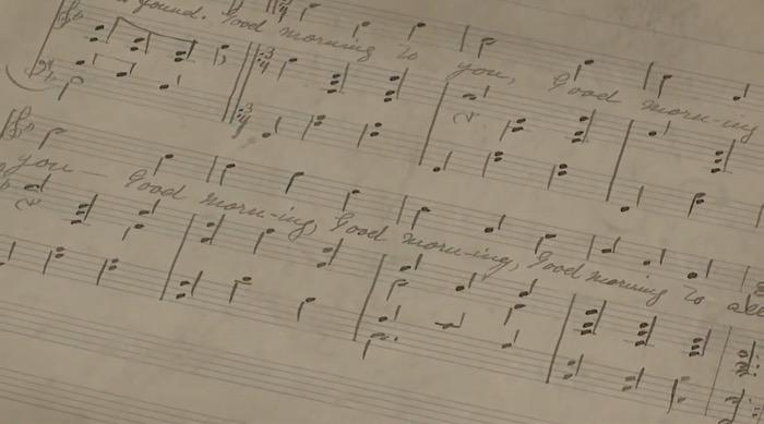Original Happy Birthday Song Manuscript