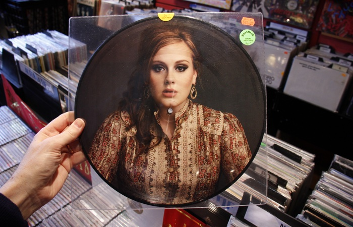 Vinyl Records Boom: Adele In a Record Store