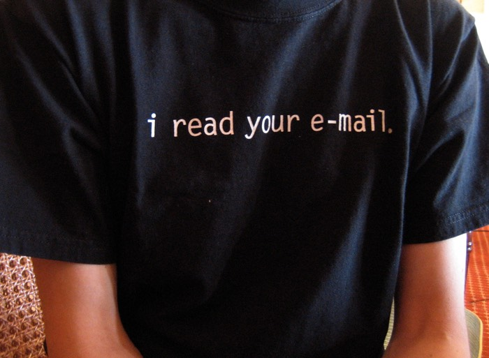 T-shirt: 'I Read Your Email'