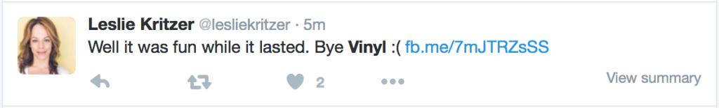 Hbo Vinyl Scrapped No More Season 2