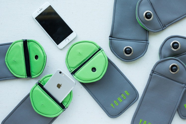 Yondr created a locking pouch for people to hold their phones in during performances.