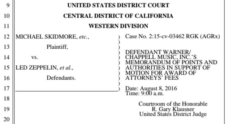 Led Zeppelin Won The 'Stairway To Heaven Case', Now Warner Wants $800K