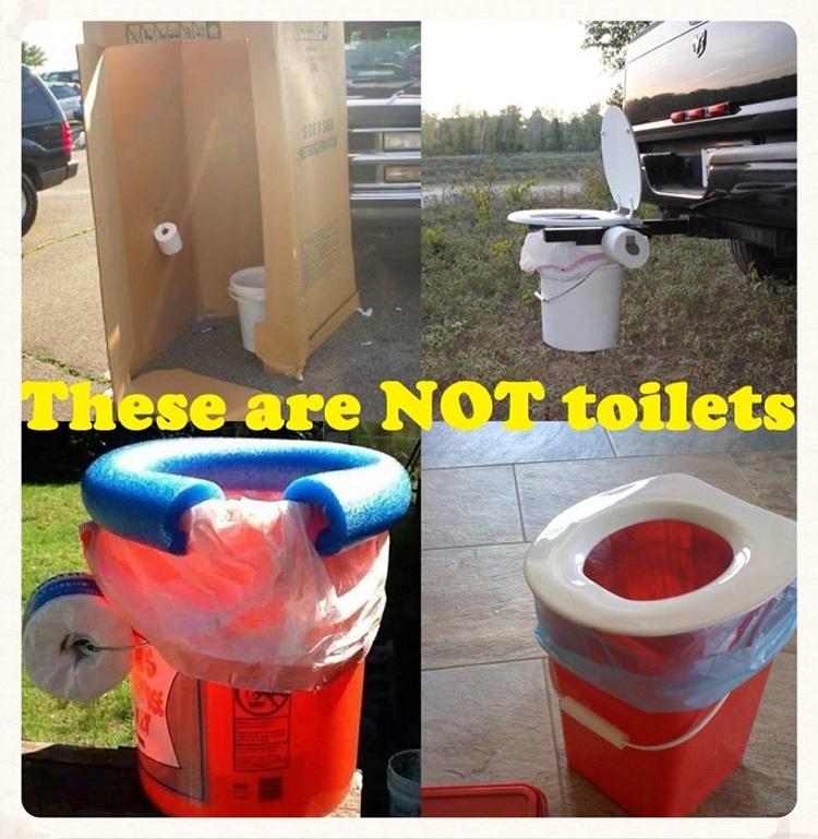 Makeshift Toilets