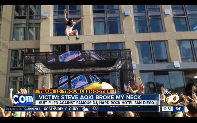 Steve Aoki Dives!