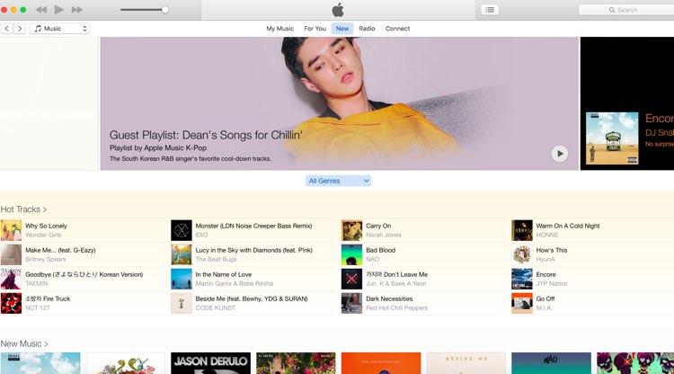 iTunes Korea: No Music Downloads