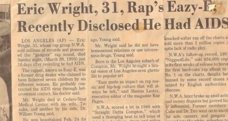 Who Gave Eazy E AIDS? Allegations of a Cover Up Continue