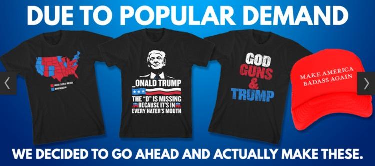 Warner Bros Records label pushes pro-Trump, virulently anti-Hillary merchandise on behalf of artist Kid Rock