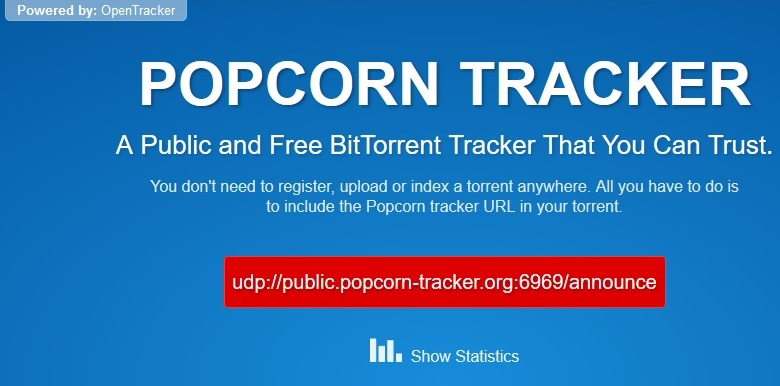 popcorn time adds new public torrent tracker to share illegal content