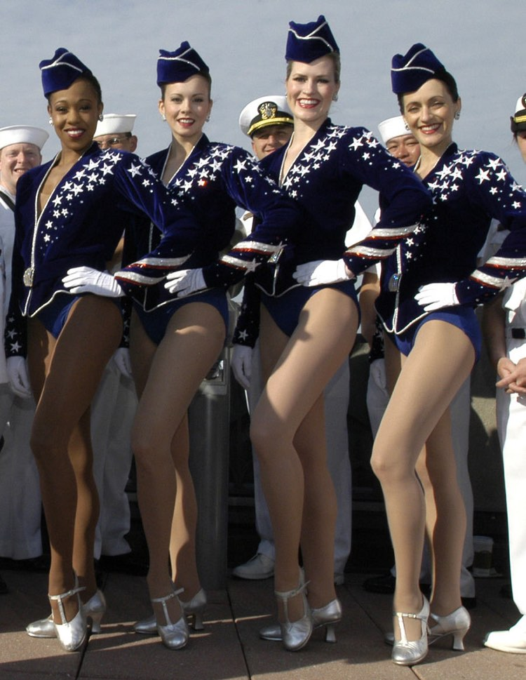 The Rockettes performing for US Navy sailors (Image: US Navy)