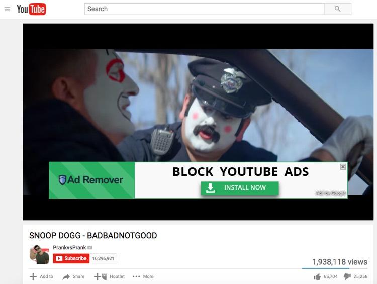 YouTube Adblocker Ad