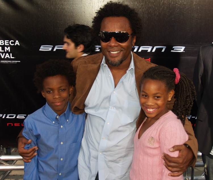 Happier Times: Empire creator Lee Daniels poses with his niece and nephew (photo: David Shankbone CC by 3.0)