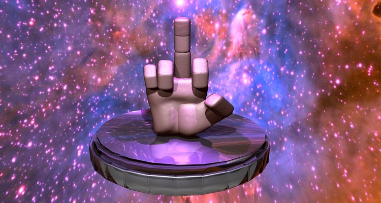 Image of a galactic middle finger. Why an artist wrote a song called 'Fuck You Spotify'