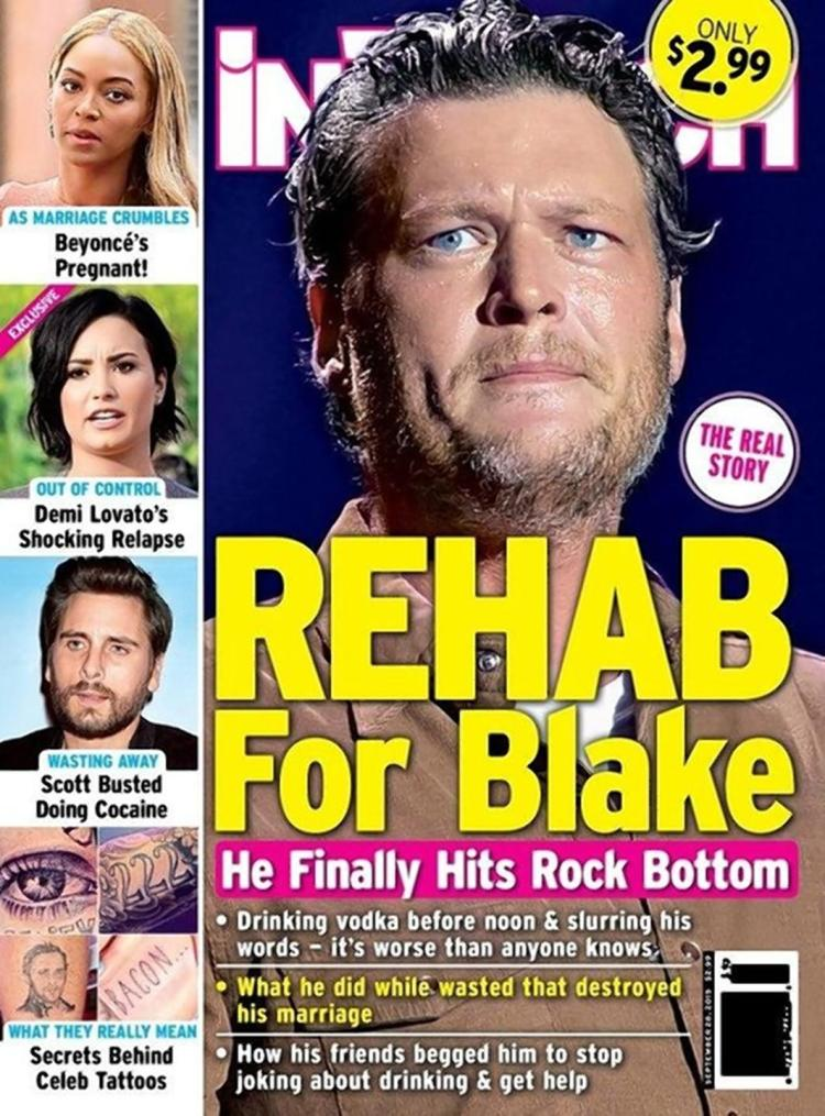 Blake Shelton on InTouch Weekly, September 2015