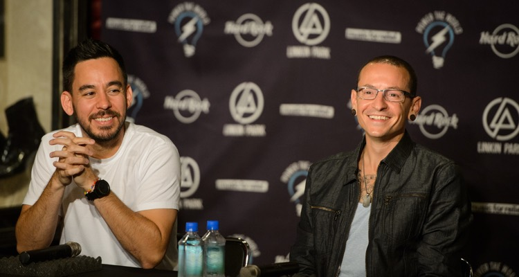 Linkin Park's Chester Bennington and Mike Shinoda, 2013