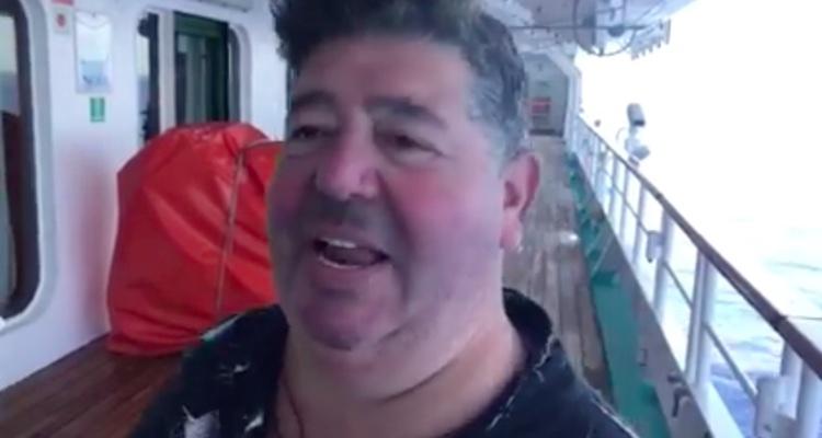 Rob Goldstone, pictured in an impromptu Facebook video.