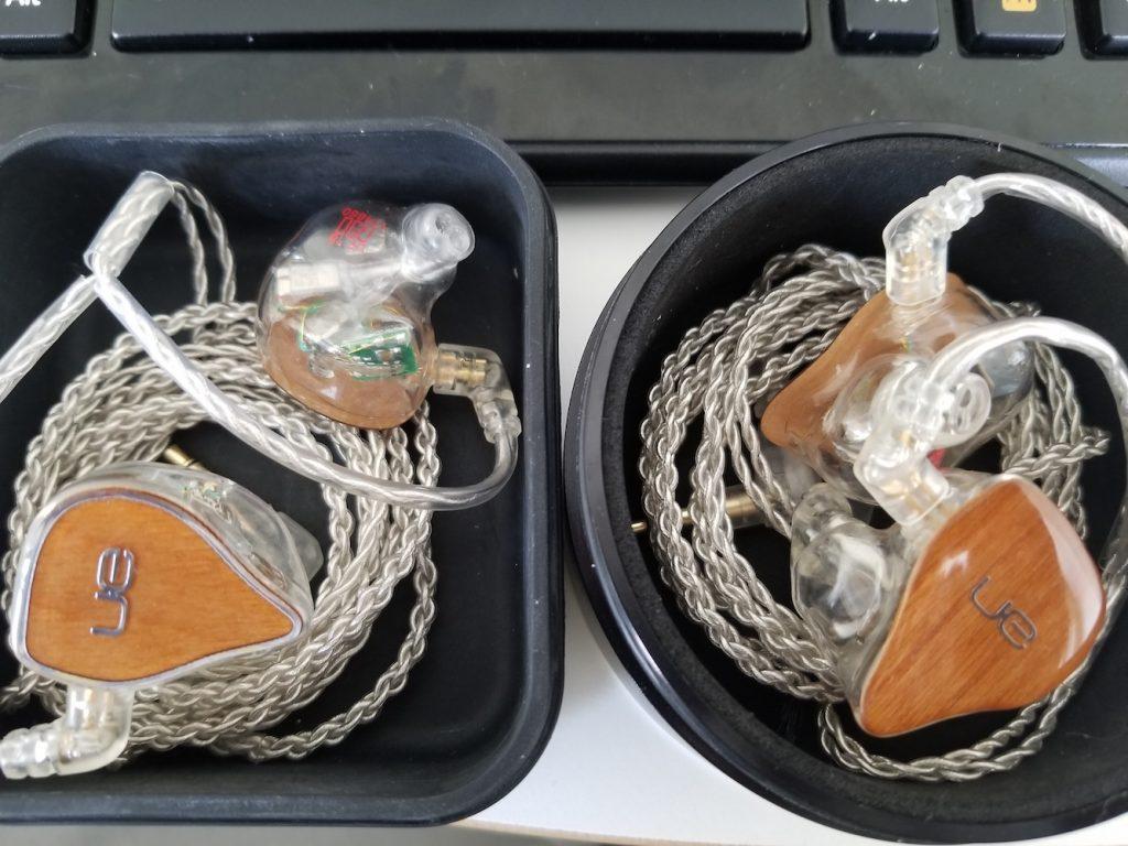 In-Ear Headphones: Previous Model (Left) | New Model (Right)