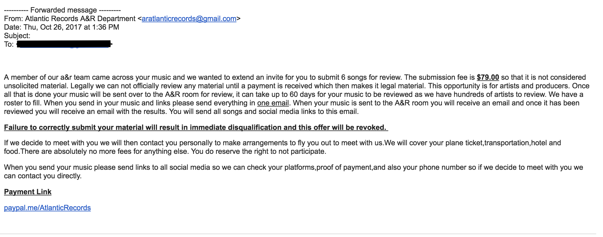 decca records emailed me