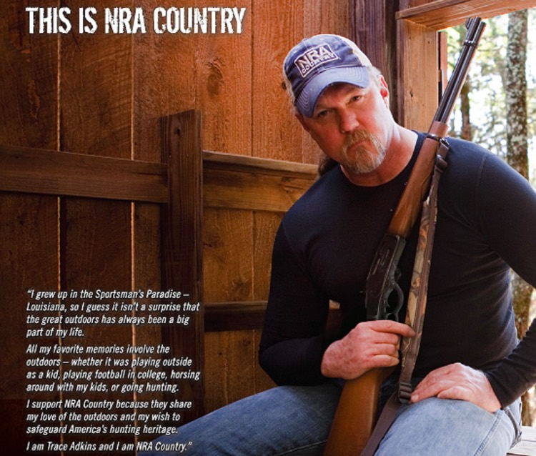 Trace Adkins, one of several country artists standing by the NRA.