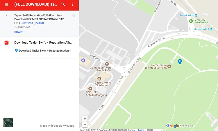 Get Your Free MP Download Of Taylor Swifts Reputation On - Germany map google