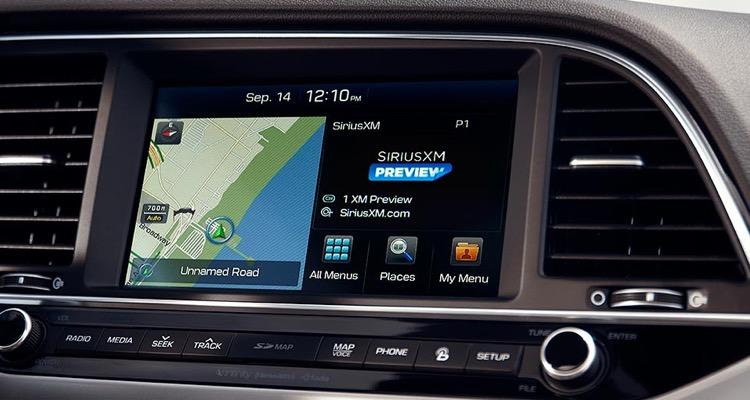 Sirius XM Radio in a Hyundai dashboard