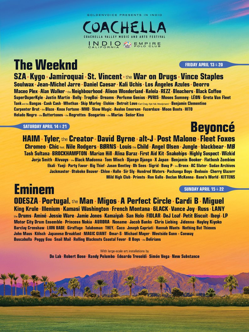 Here's the Complete Coachella 2018 Lineup (Confirmed)