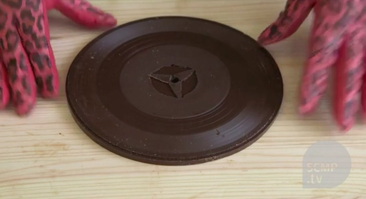 An Artist Makes Vinyl Records Out  Chocolate — And They Actually Play