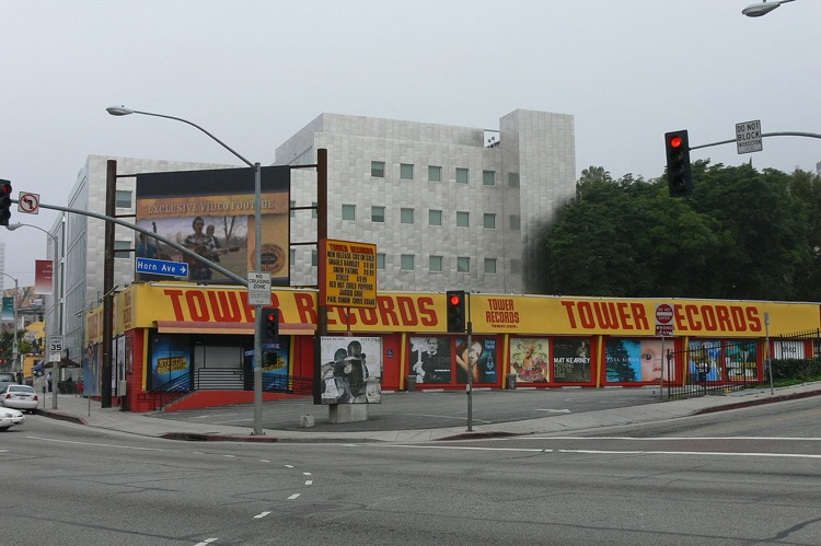 Tower Records on Sunset, a relic of the music industry, may soon be gone.