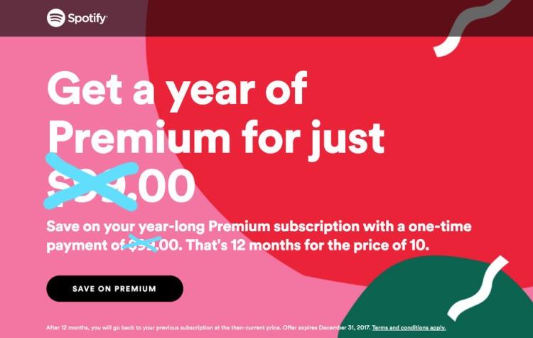 spotify premium for free