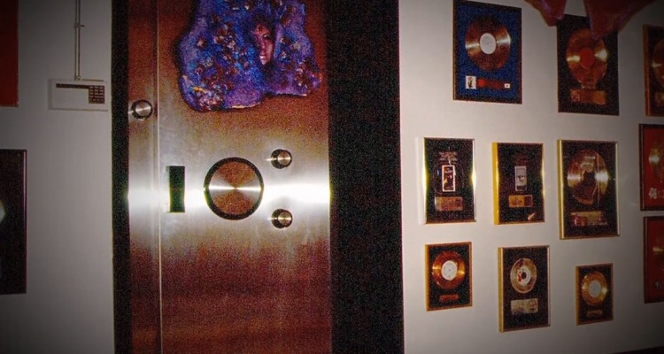 The door to Prince's bank vault of unreleased music in the basement of Paisley Park (photo: Carver County Sheriff's Office)