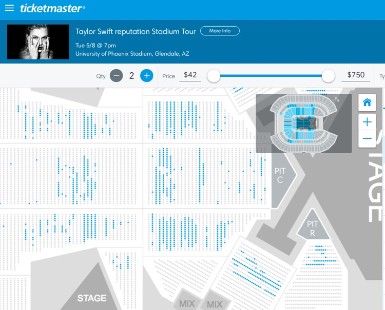 Thousands of taylor swift tickets remain unsold just days before throughout ticketmaster and its owner live nation have pointed to a strategy that involves high more dynamic ticket pricing that strategy foregoes the m4hsunfo