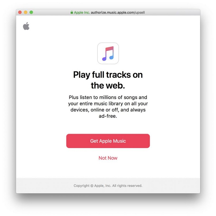 Apple Music's Web Player Now Streams Entire Songs – No iTunes Needed
