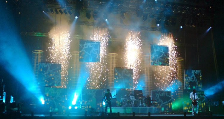Muse playing Reading and Leeds Festivals, 2006.