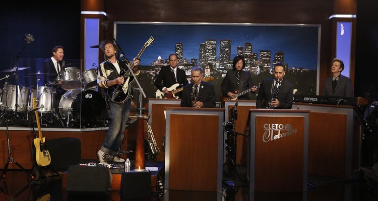 Cleto and the Cletones, the 'house band' musicians on Jimmy Kimmel Live!