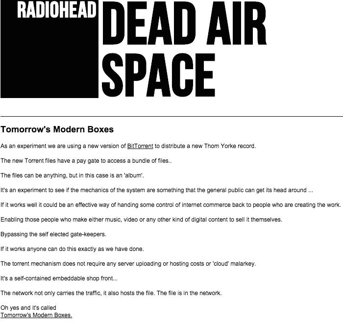 radioheadannouncement