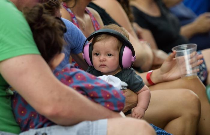 Pictures of babies Wearing Headphones