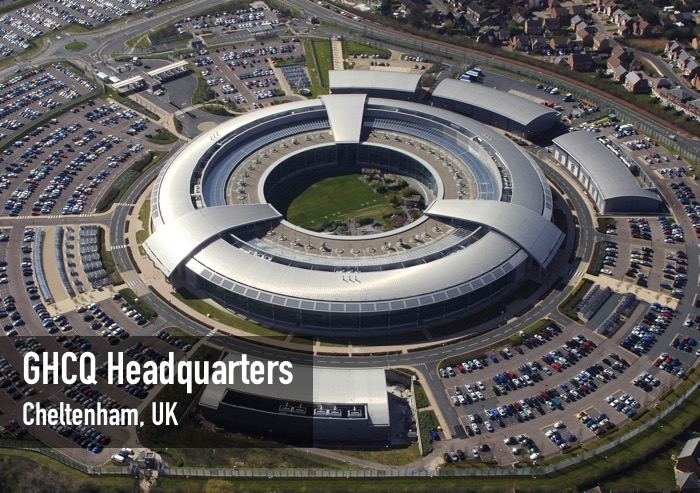 An aerial image of the Government Communications Headquarters (GCHQ) in Cheltenham, Gloucestershire. GCHQ is one of the three UK Intelligence Agencies and forms a crucial part of the UK's National Intelligence and Security machinery. The National Security Strategy sets out the challenges of a changing and uncertain world and places cyber attack in the top tier of risks, alongside international terrorism, a major industrial accident or natural disaster, and international military crisis. GCHQ, in concert with Security Service (also known as MI5) and the Secret Intelligence Service (also known as MI6) play a key role across all of these areas and more. Their work drives the UK Government's response to world events and enables strategic goals overseas.
