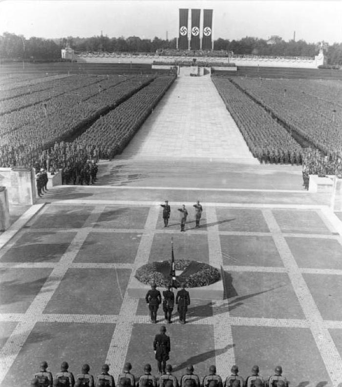 Nuremberg Rally, 1934. Thom Yorke compared YouTube to Nazi Germany during World War II.