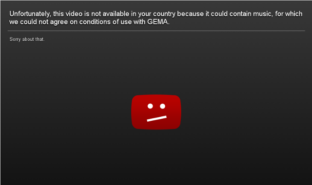 YouTube Content, Blocked in Germany