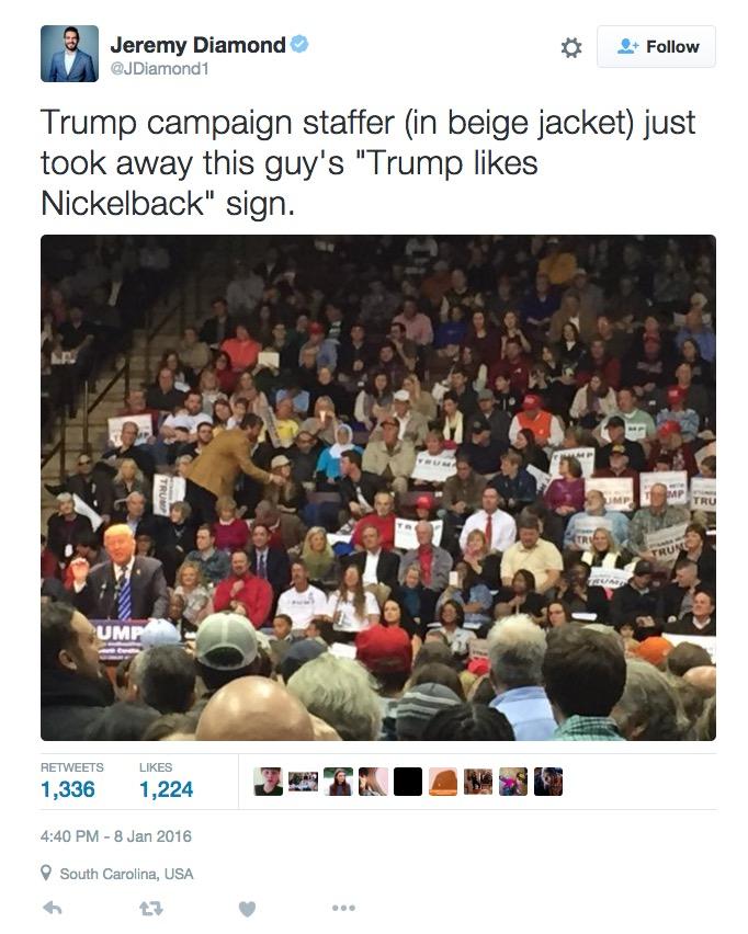 Donald Trump Likes Nickelback