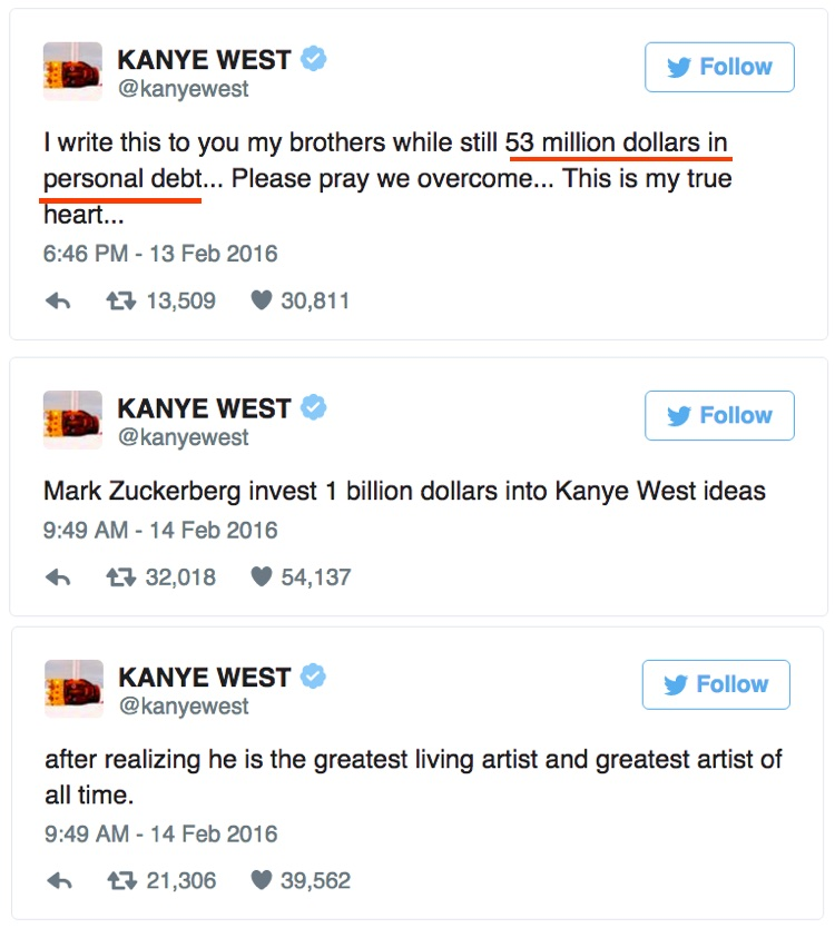 Kanye West Begs Fans to Help With $53 Million Debt Problem