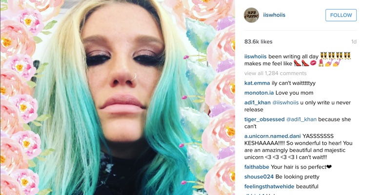 Kesha Is Finally Working On New Music