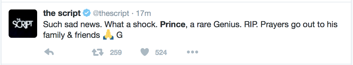 Prince Dead: Celebrity Response