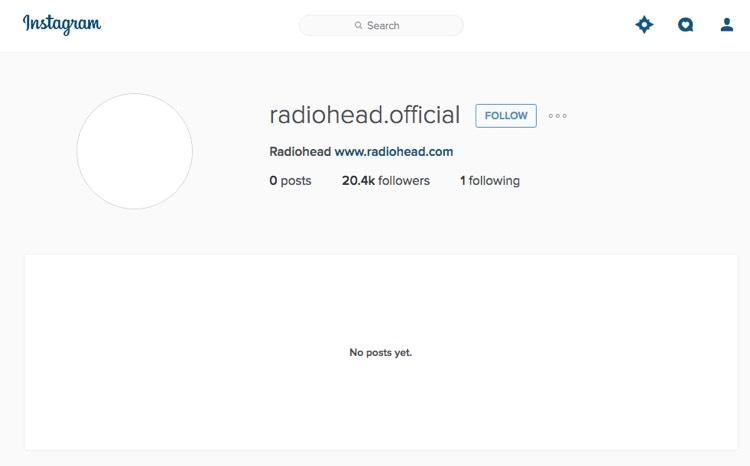 Radiohead Instagram