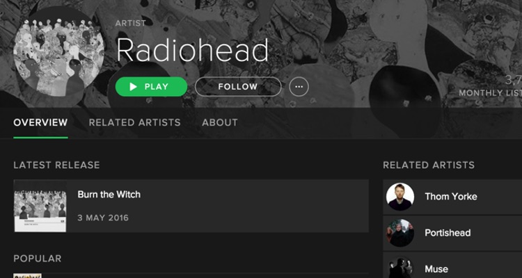 Has Thom Yorke Finally Given In To Spotify?