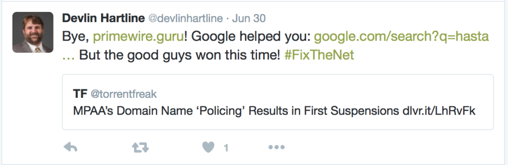 Google Caught Up In Twitter Debate Over Infringing Domain Links