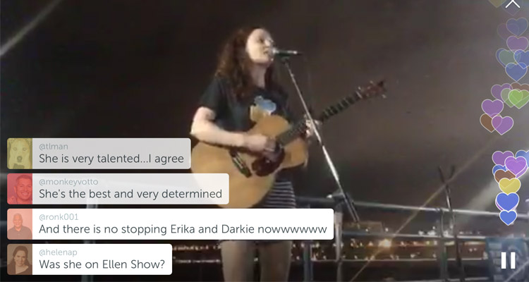 Clare Means on Periscope