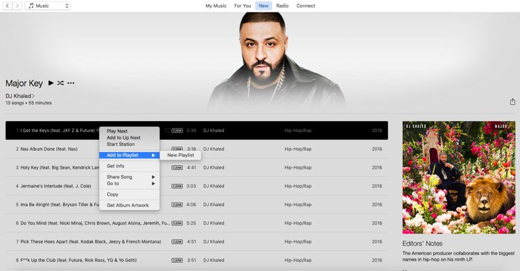DJ Khaled iTunes Korea