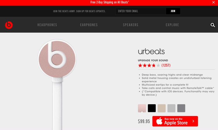 UrBeats from Beats by Dre